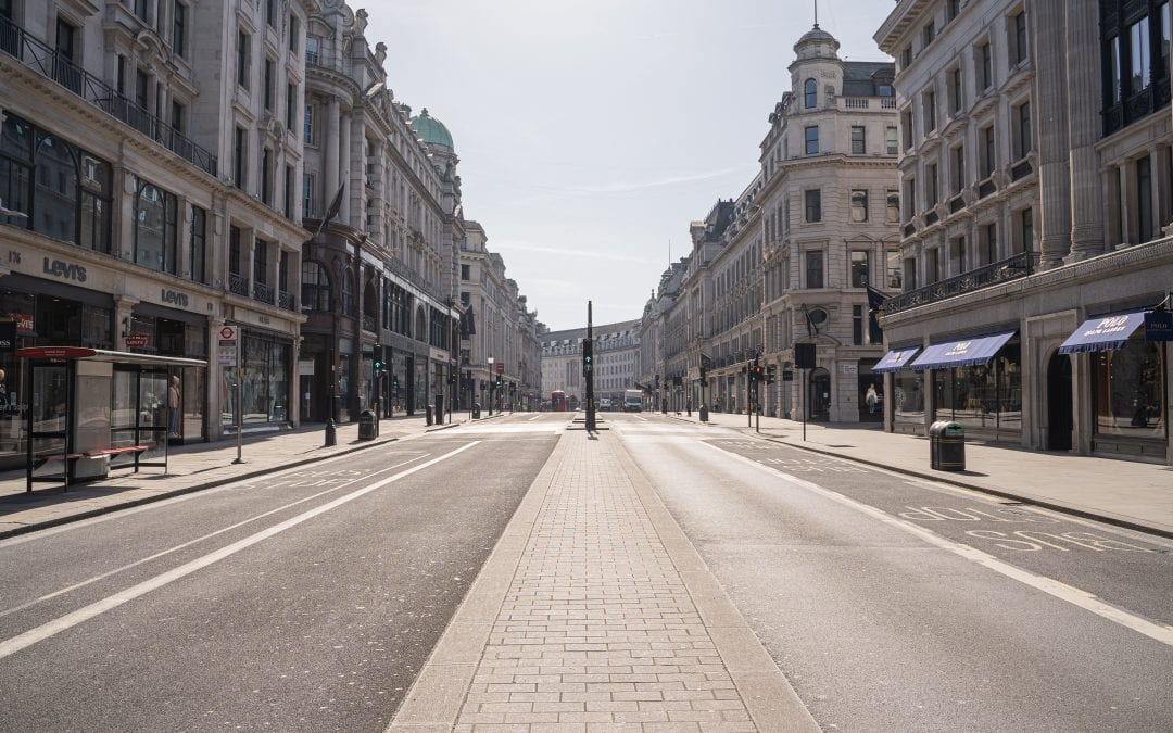 London, deserted under Lockdown